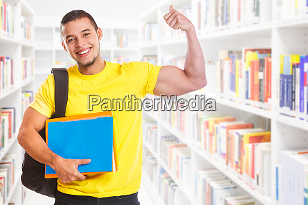 student young man success successful strong