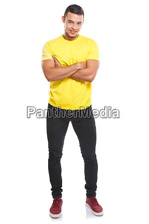 young latin man full body portrait
