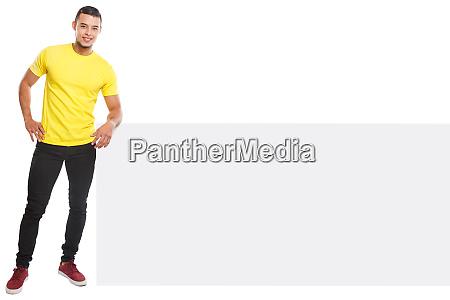 young latin man smiling copyspace marketing
