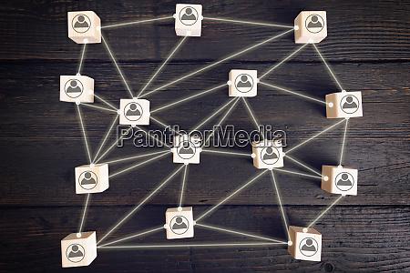 soziales netzwerk schema das geschaeftsleute symbole