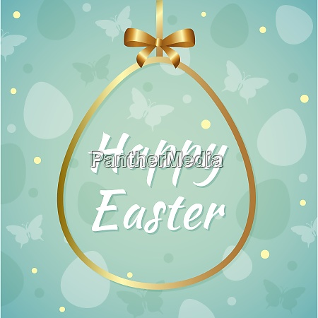 vector easter background with greeting inscription