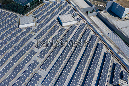 top view of solar panel