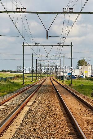 railway tracks straight section