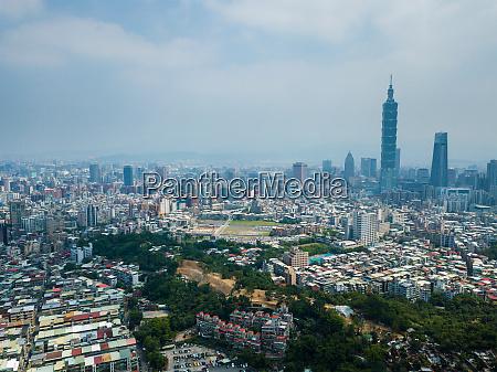 taipeh, stadt, taiwan, 18, mai, 2018:-, luftaufnahme, der - 26667250