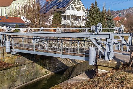 draw bridge at historic ludwig danube