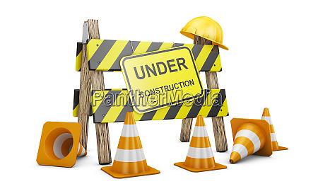 barrier under construction