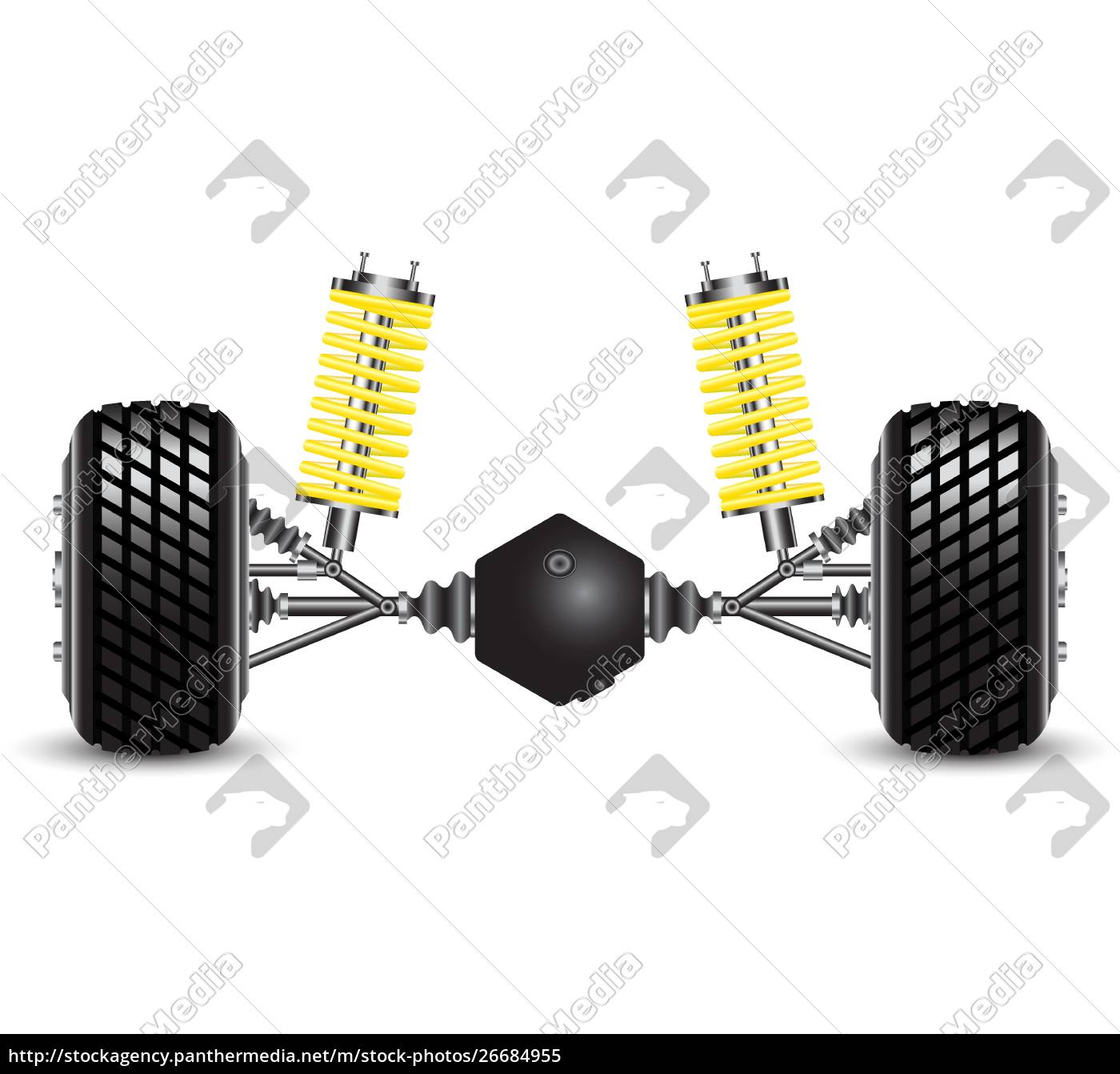 rear, suspension, of, the, car, springs - 26684955