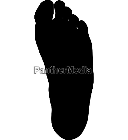 black silhouette of leg on white
