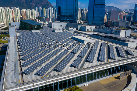 solar power panel on the roof