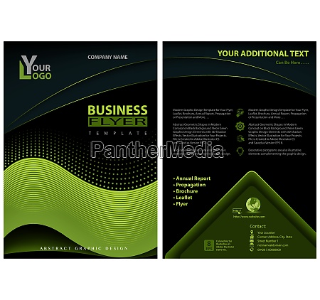 flyer template with neon green graphic