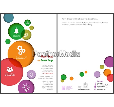 flyer template with colorful circles
