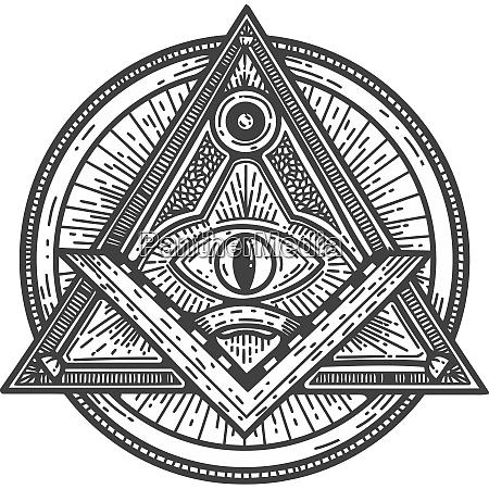 quare und kompass masonic okkultismus schwarz