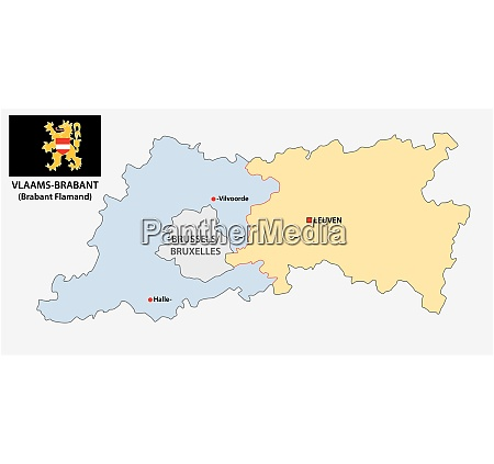 administrative and political vector map of