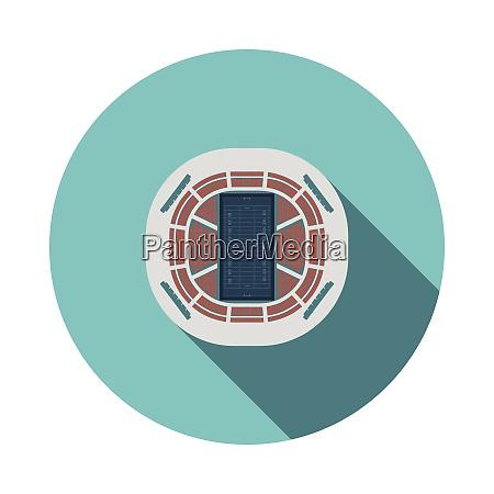 american football stadion vogelperspektive ikone