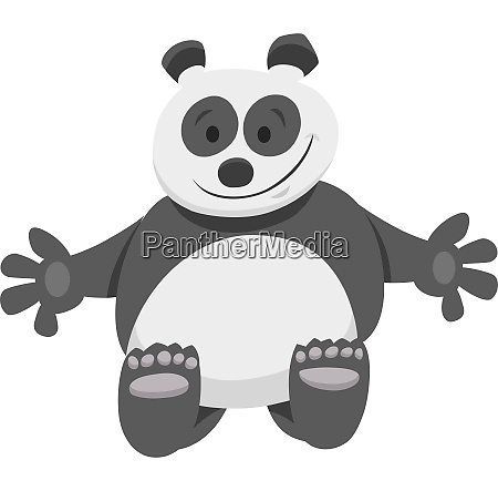funny panda bear cartoon animal character