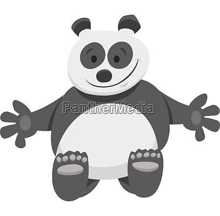 funny panda bear cartoon animal character