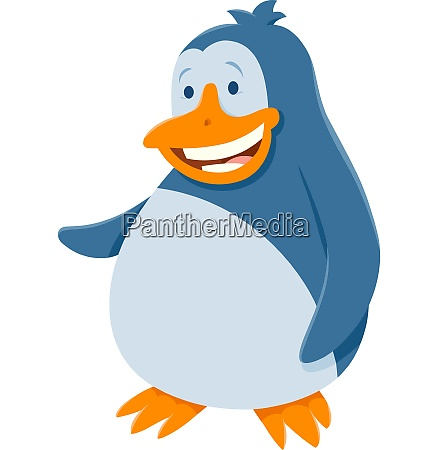 funny penguin bird animal cartoon character