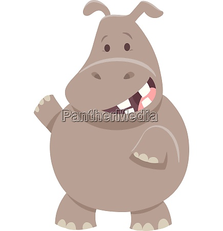cute cartoon hippopotamus animal character