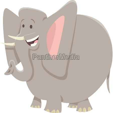 funny elephant cartoon animal character