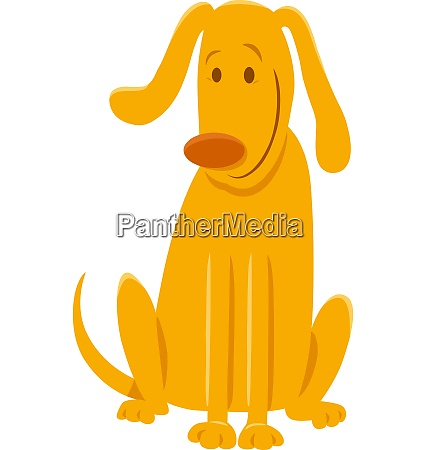 happy yellow dog or puppy cartoon