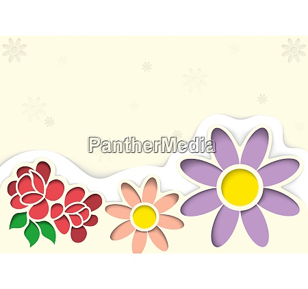greeting card with flowers in the