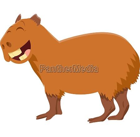 lustige capybara cartoon tier charakter