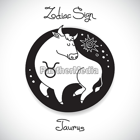 taurus zodiac sign of horoscope circle