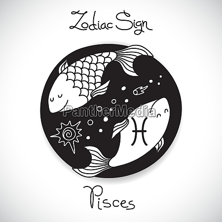 pisces zodiac sign of horoscope circle