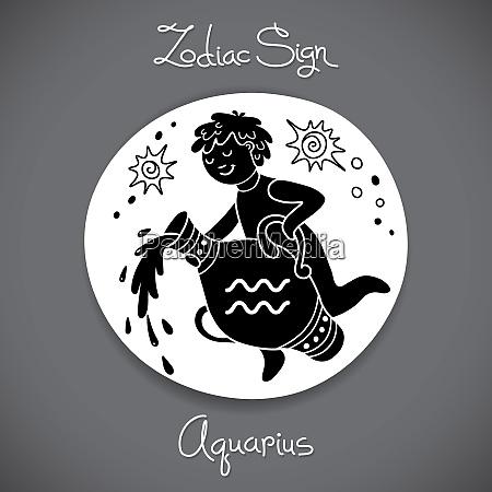 aquarius zodiac sign of horoscope circle