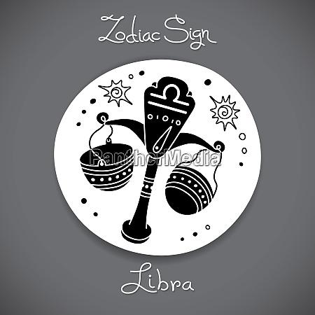 libra zodiac sign of horoscope circle