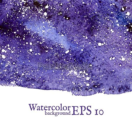 blue space background blue watercolor banner