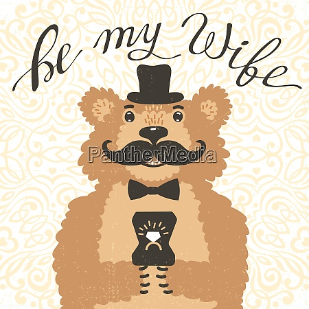 be my wife hipster bear with