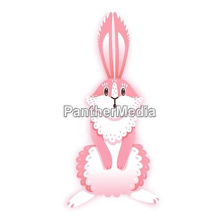 surprised cartoon rabbit funny bunny cute