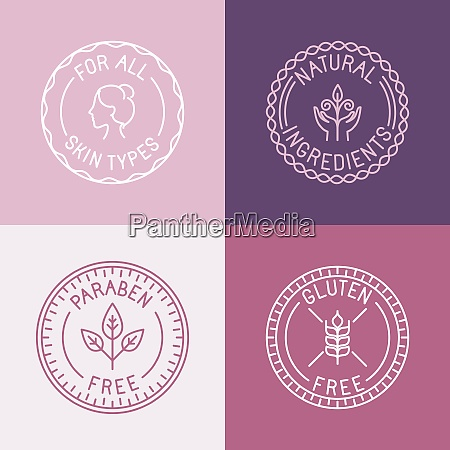 vector set of badges and emblems