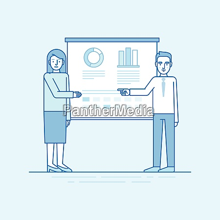 vector illustration in flat linear style