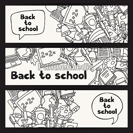 back to school background with education