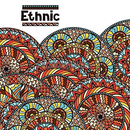 ethnic background design with hand drawn