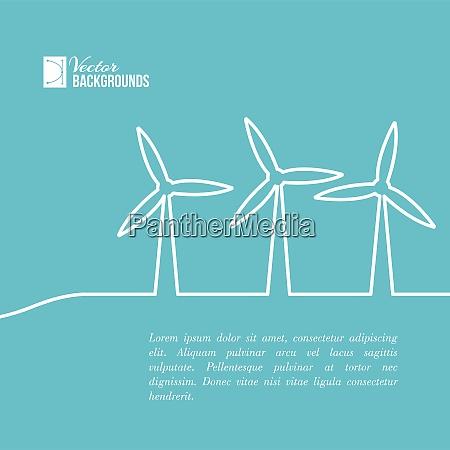 windkraftanlagen die strom erzeugen vektor illustration