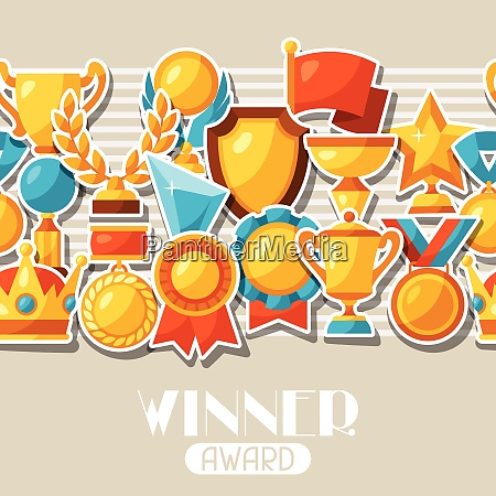 sport or business award sticker icons
