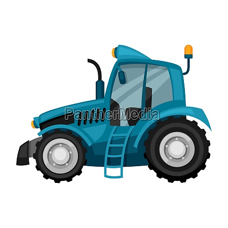 tractor on white background abstract illustration