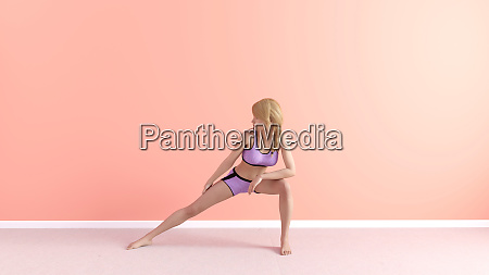 stretch yoga pose