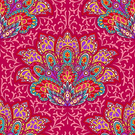 indian ethnic seamless pattern with hand