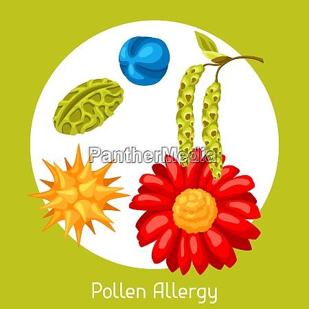 pollenallergie vektor illustration fuer medizinische websites