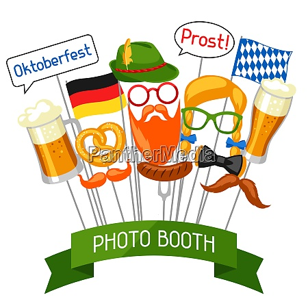 set of oktoberfest photo booth props
