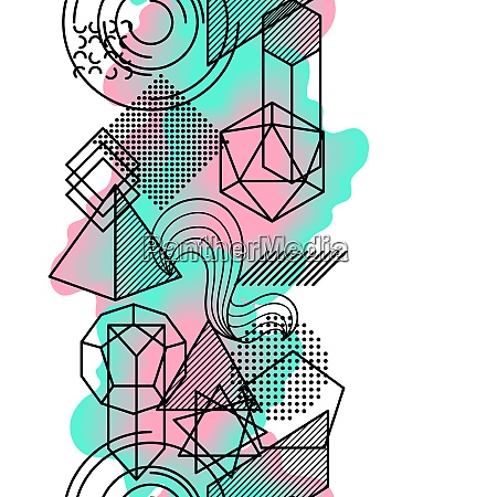 seamless pattern with abstract geometric shapes