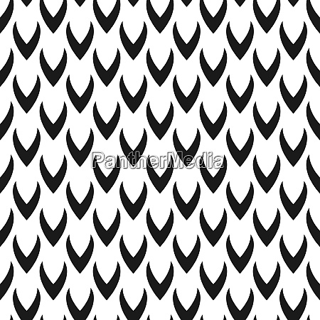 abstract seamless stylized scales pattern monochrome