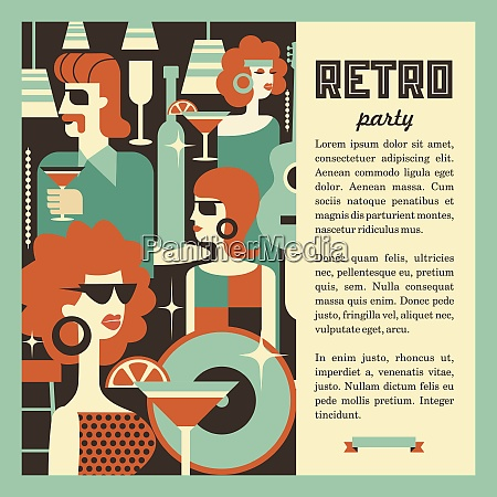 retro party maenner und frauen modisch
