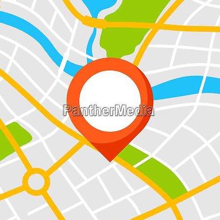 abstrakter, stadtplanhintergrund, mit, marker.., abstrakte, stadtkarte - 26787472