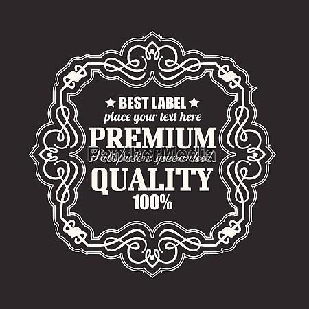 retro label premium qualitaetsabzeichen retro label