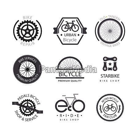 fahrrad fahrrad vektor logo abzeichen fahrrad